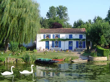 By the river in the Marais Poitevin